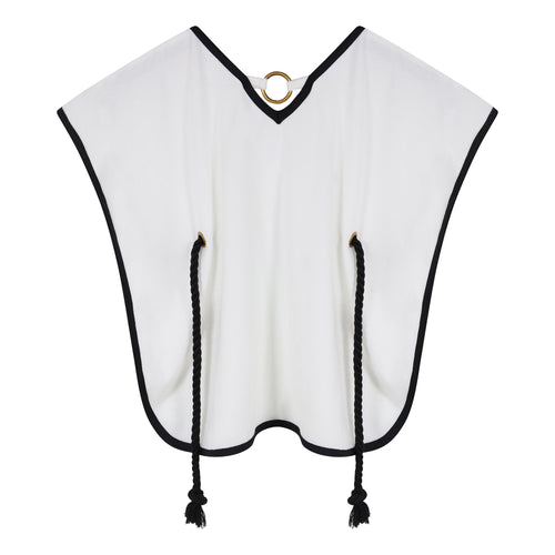 White Towelling Poncho
