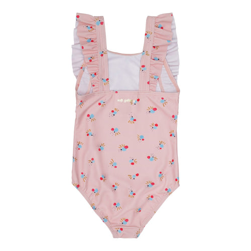 Baby Pink Printed UV50+ Swimsuit