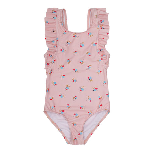 Pink Printed UV50+ Swimsuit