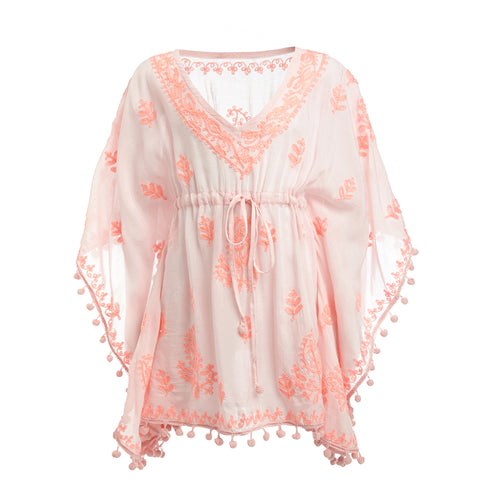 Baby Sharize Embroidered Kaftan Pale Pink