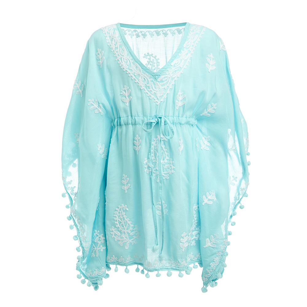 Baby Sharize Embroidered Kaftan Sky Blue