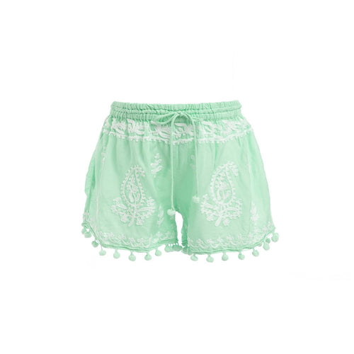 Baby Shorts Embroidered Shorts Mint