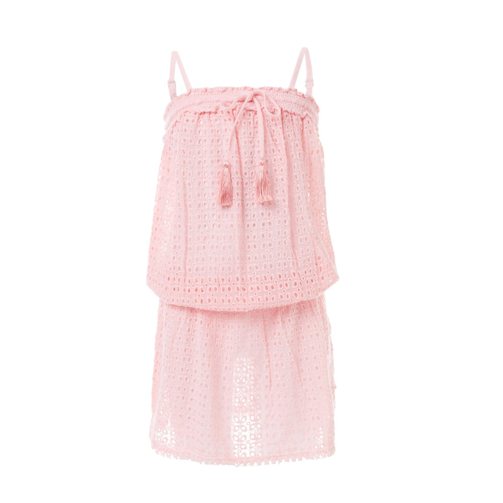 Baby Adela Pale Pink Lace Beach Dress