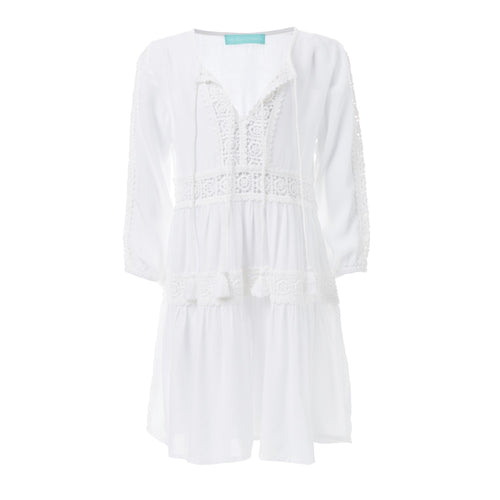 Baby Reid White Kaftan Dress