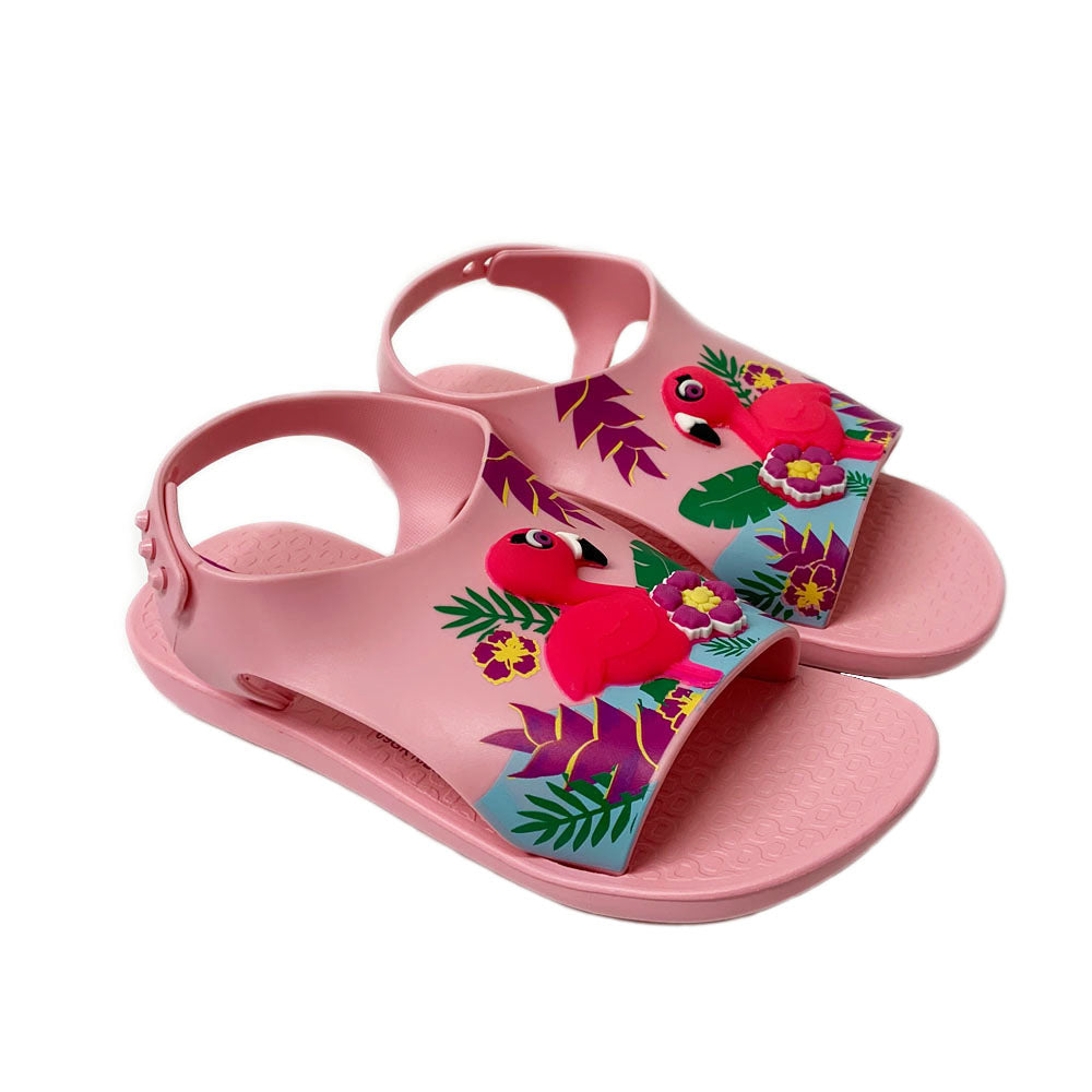 Pink Flamingo Beach Slide Sandal