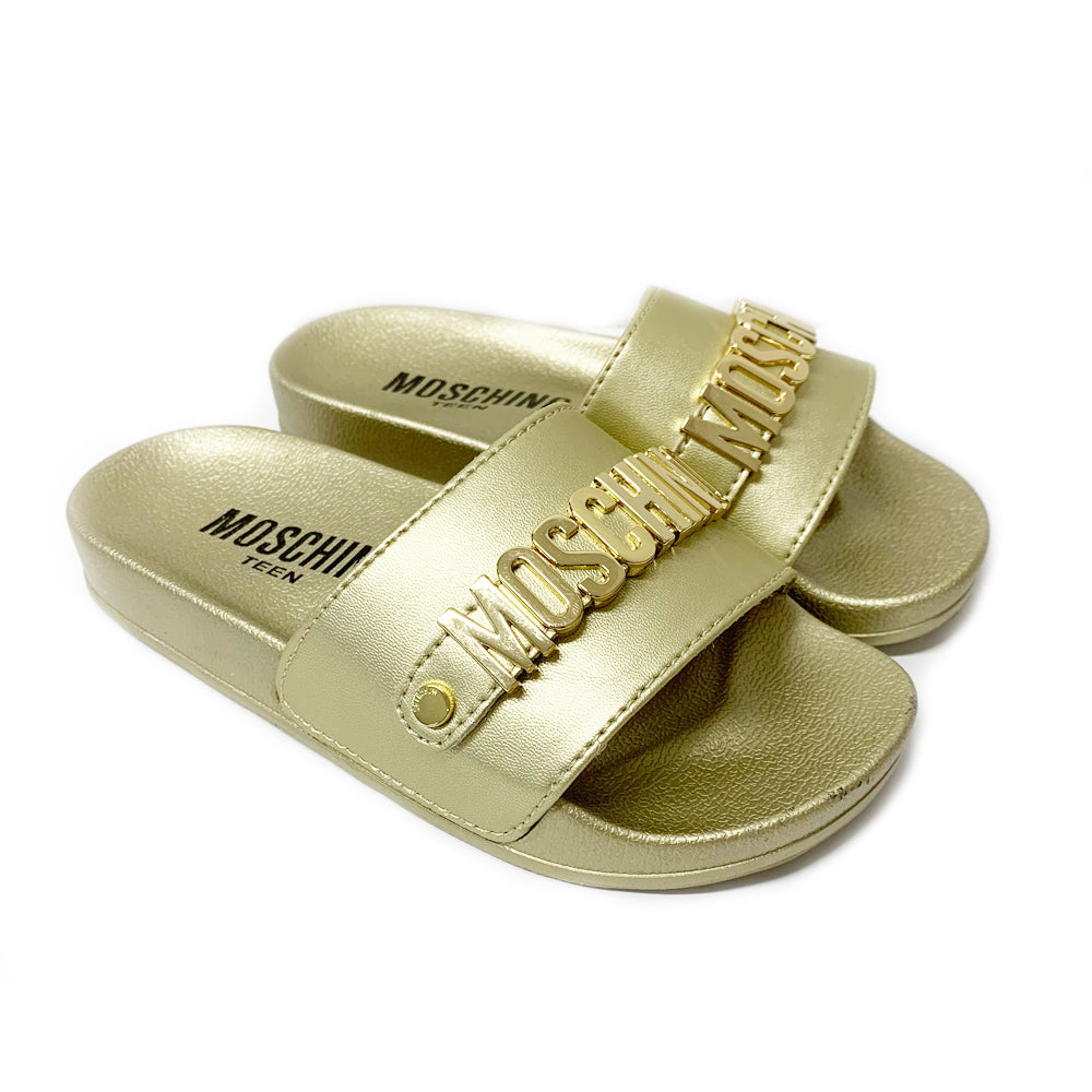 Gold Moschino Logo Sliders