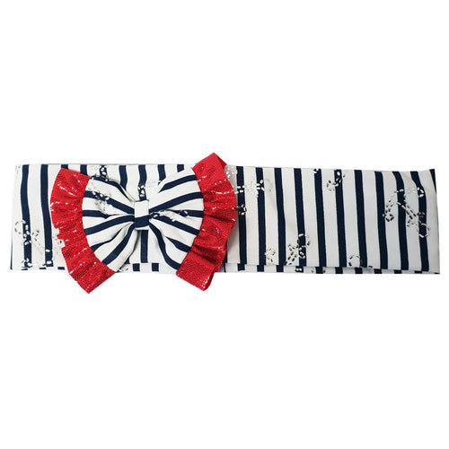 Stripy Bow Headband