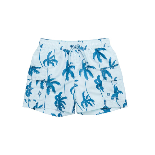 Mateo Hawaii Surf Shorts Blue Ashes