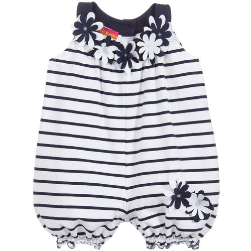 Navy Baby Bubble Romper