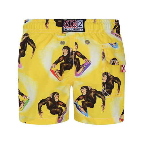 Monkey Print Swim Shorts