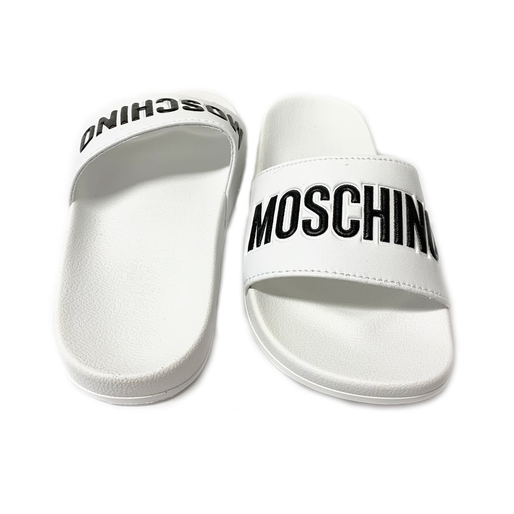 White Moschino Logo Sliders