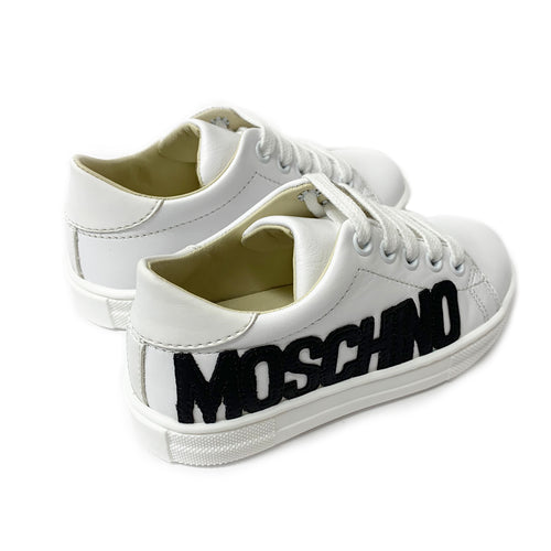 White Leather Logo Trainers