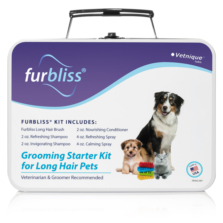 Furbliss Grooming Kit for Pets with Long Hair