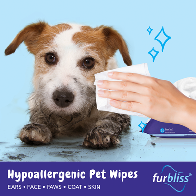 Furbliss Hypoallergenic Hygienic Deodorizing Pet Wipes for Dogs and Cats