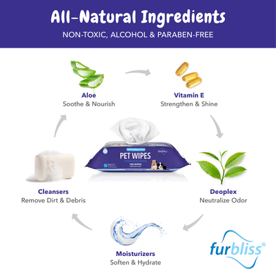 Furbliss Natrual Hygienic Deodorizing Pet Wipes
