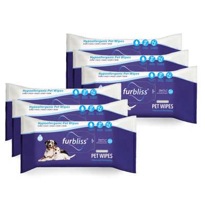 Furbliss Unscented Hygienic Grooming Wipes for Dogs and Cats - 100 ct