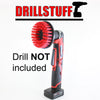 Red Drill Brush,Power Scrubbing Brush Drill Attachment for Cleaning Showers, Tubs, Bathrooms, Tile, Grout, Carpet, Tires, Boats (Stiff) by Drillstuff