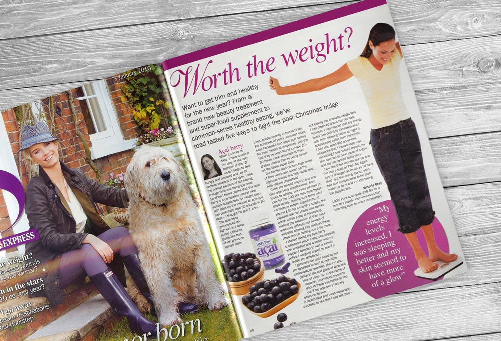 Acai Berry Featured in Sunday Express