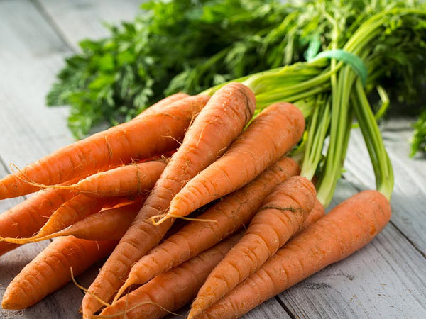 Carrots - carrots are part of SuperGreens' formula