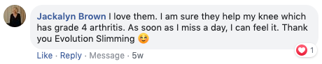 Testimonial from Facebook for Turmeric Pro