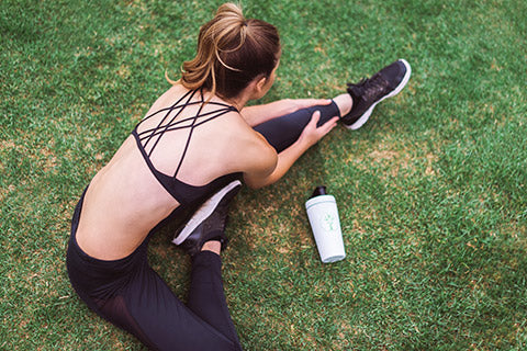 Woman exercising with Zinc Supplements