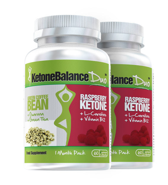KetoneBalance Duo with Raspberry Ketones & Green Coffee Bean 2 Month Supply