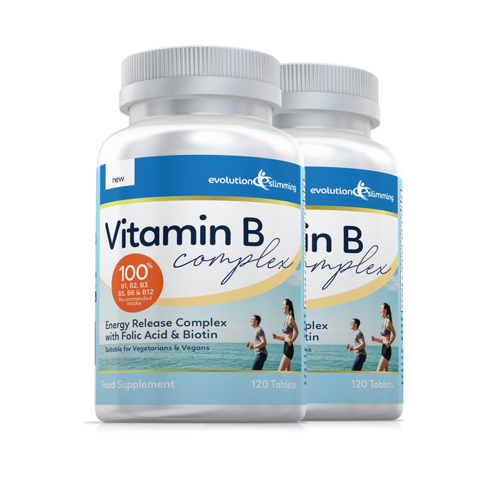 Vitamin B Complex Tablets, 100% RDA, Suitable for Vegetarians & Vegans