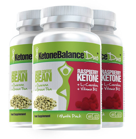 KetoneBalance Duo with Raspberry Ketones & Green Coffee Bean 3 Month Supply