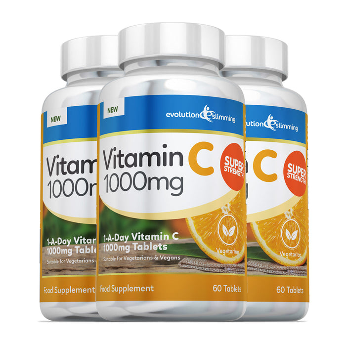 Vitamin C 1000mg Tablets, Suitable for Vegetarians & Vegans