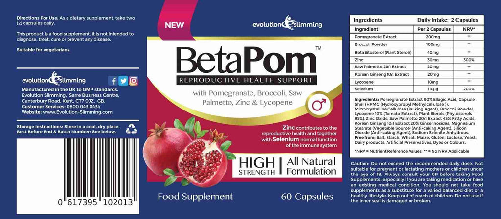 Betapom Capsules Prostate Amp Reproductive Support For Men