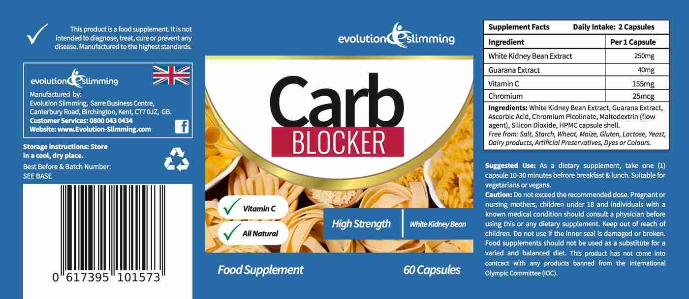 Carb Blocker Label