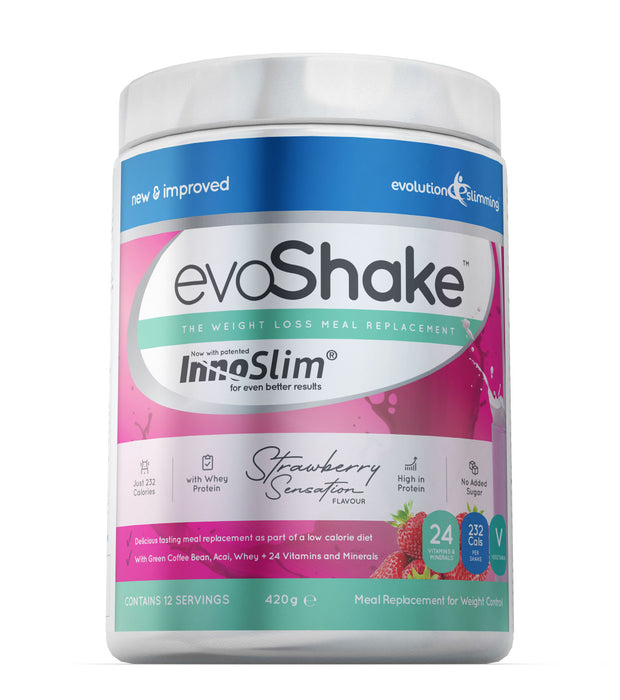 EvoShake Meal Replacement Weight Loss Diet Shake with InnoSlim® (Strawberry, Chocolate or Vanilla)