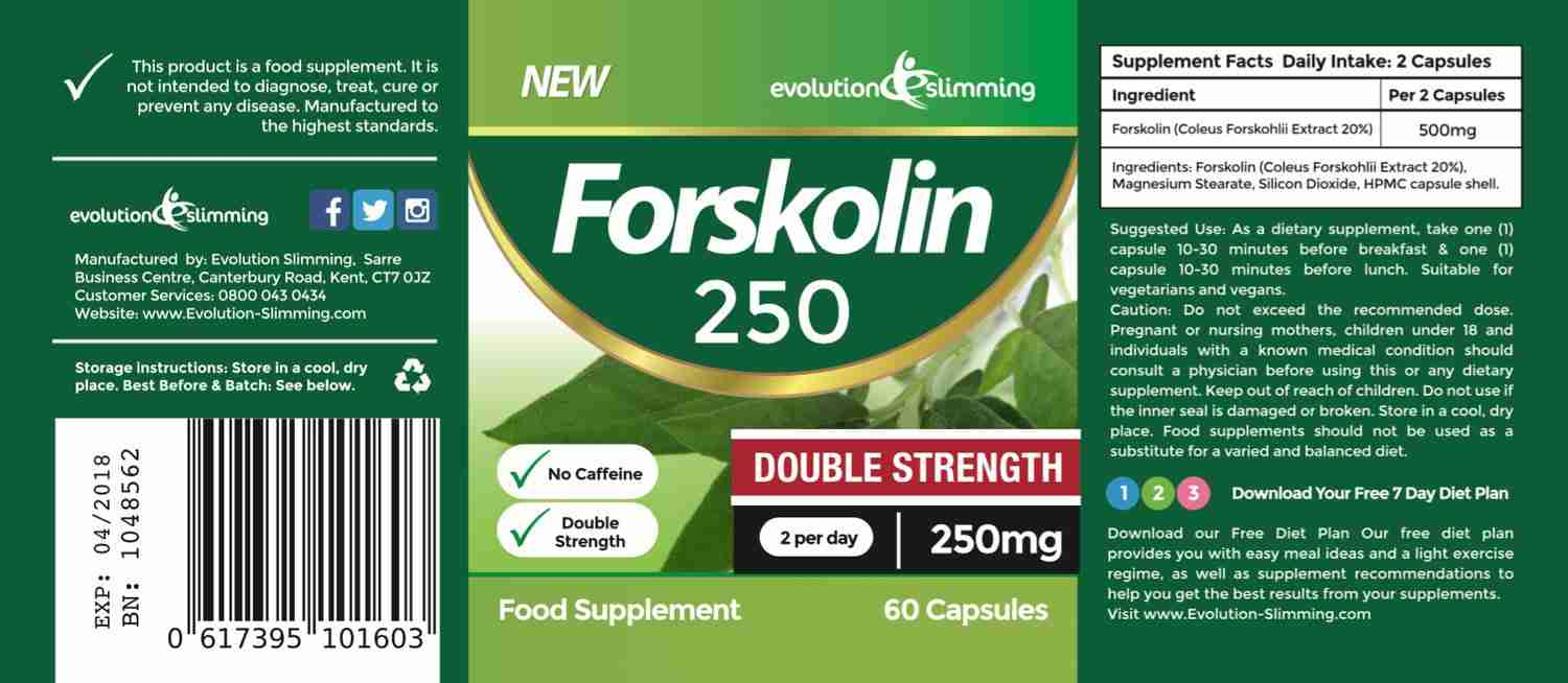 Forskolin 250mg Label