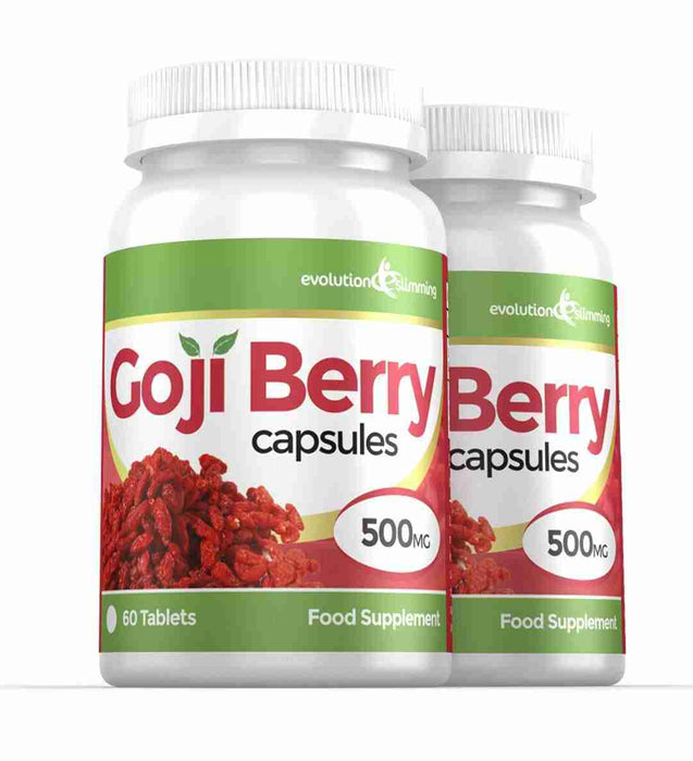 Goji Berry Capsules 500mg 2 Bottles