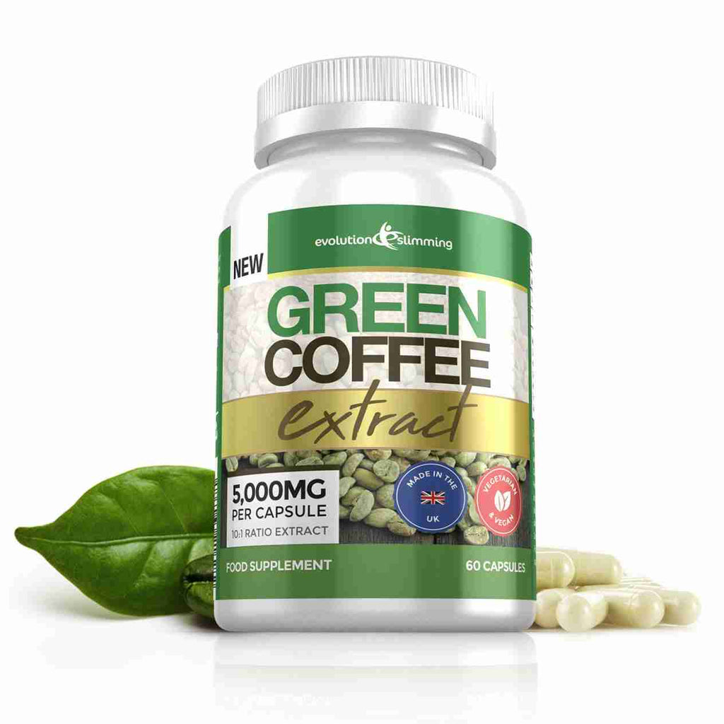 Green Coffee Extract Capsules - Pure & Natural Fat Burner