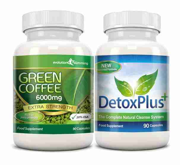 Green Coffee Detox Cleanse Pack - 6000mg Green Coffee Colon Cleanser – Evolution Slimming