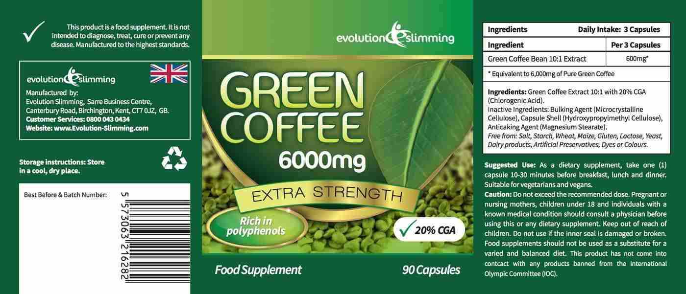 Green Coffee Bean Extract Label