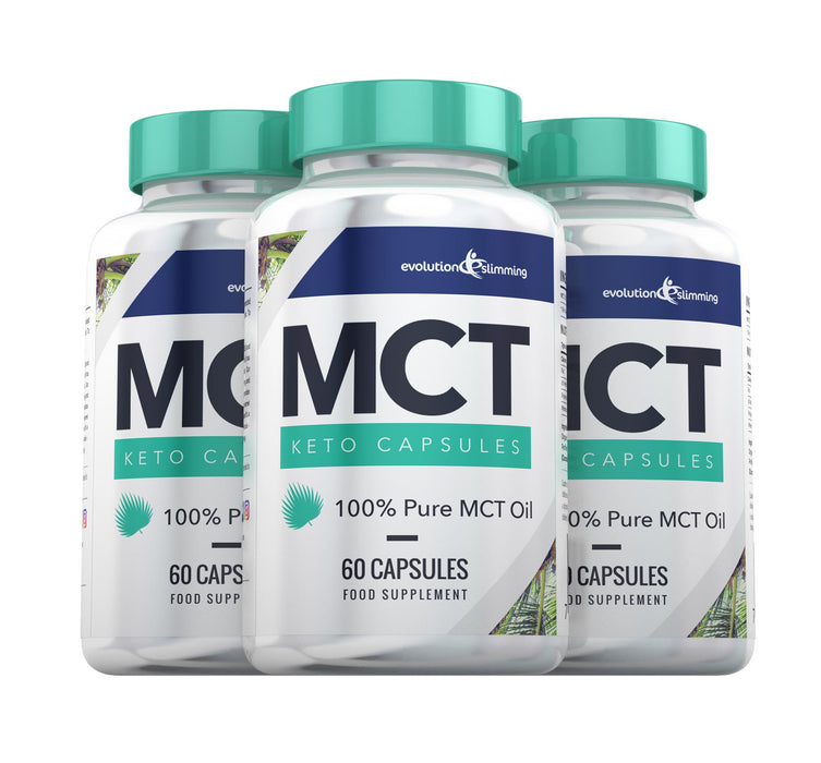 MCT Oil Capsules - 3 bottles