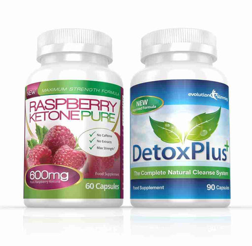 Raspberry Ketone Pure 600mg & DetoxPlus Cleanse Combo Pack