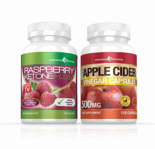 Raspberry Ketone and Apple Cider Vinegar Capsules Combo Pack