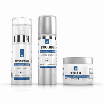 Anti-Aging Skin Care Bundle with Cleanser, Eye Serum & Anti-Wrinkle Creme