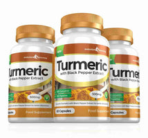 Turmeric Capsules 500mg 3 Month Supply 180 Capsules