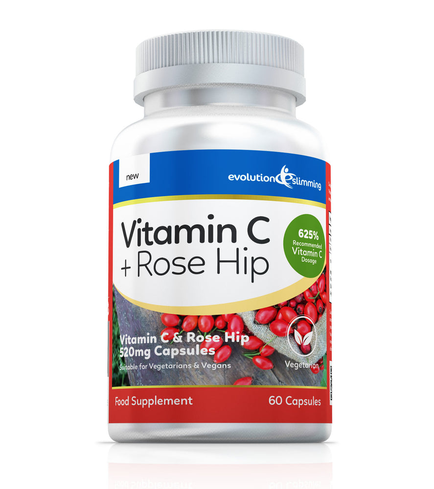 Vitamin C with Rose Hip 520mg, Suitable for Vegetarians & Vegans