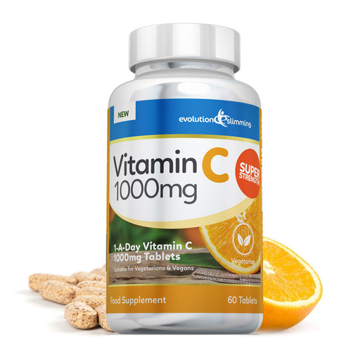 Vitamin C Tablets, 1000mg Supplement for Vegetarians & Vegans