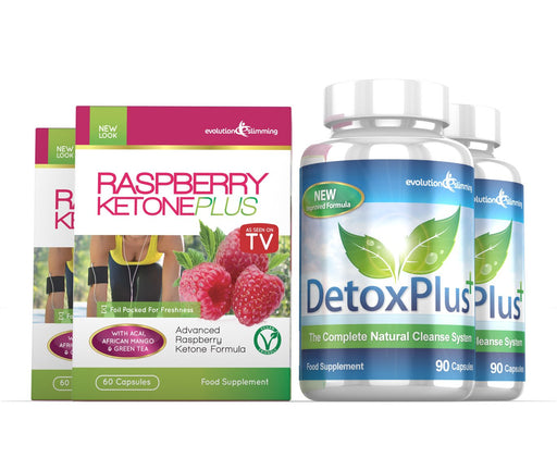 Raspberry Ketone Plus Detox Combo Pack 2 Month Supply