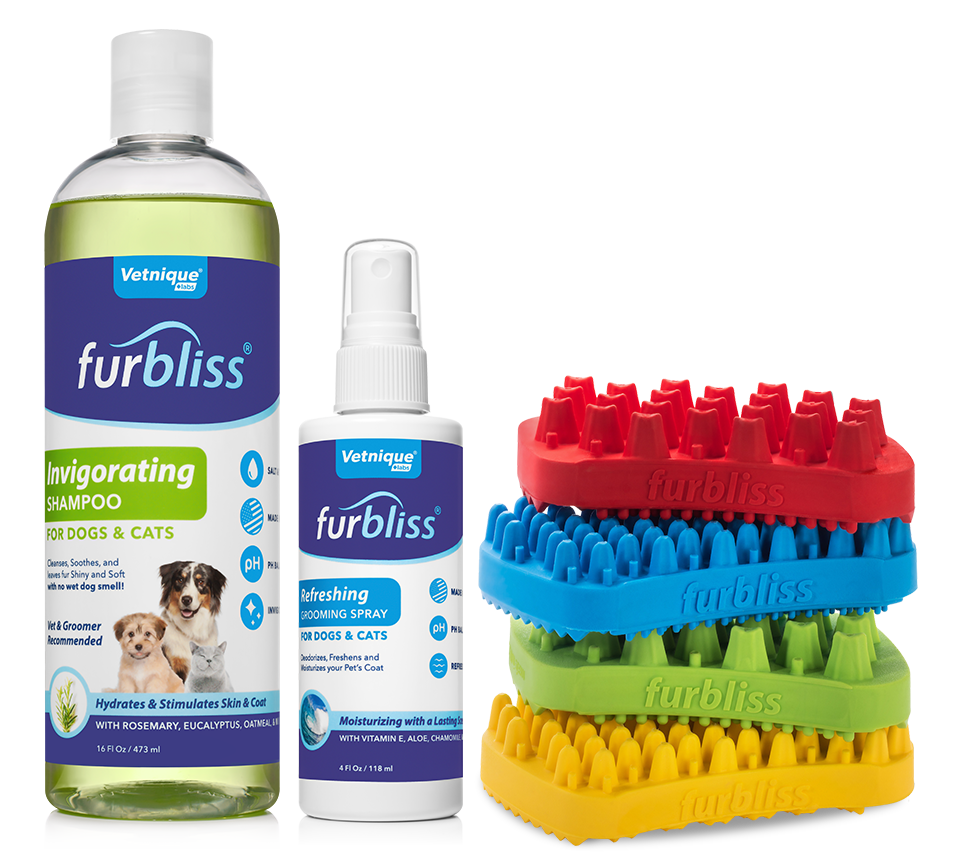Furbliss Professional Pet Grooming and Brushes - Shampoo Conditioner for Dogs and Cats