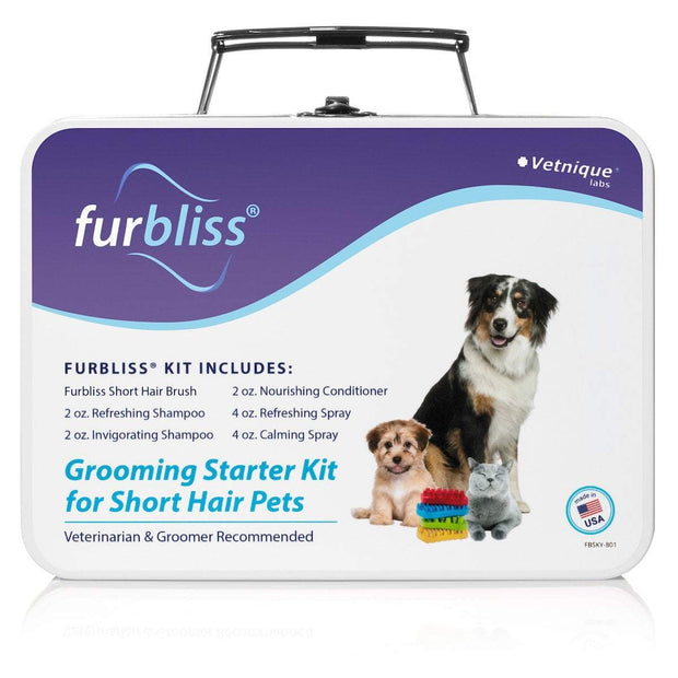 Furbliss™ Dog & Cat Grooming and Bathing Kit for Pets with Short Hair - FREE SHIPPING - Vetnique Labs