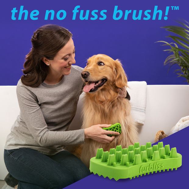 Furbliss® - Green Brush for Pets with Long Hair-