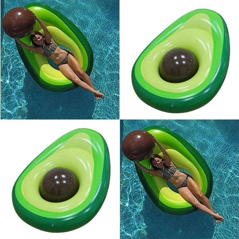 Avocado Pool Float With A Removable Pit