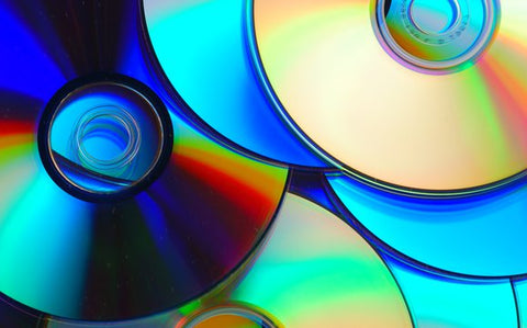CDs DVDs and Blu Ray